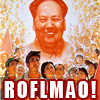 "halialkers: Mao Zedong smiling with caption ""ROFLMAO"" (ROFLMAO)"