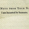 "larxene: ""I am haunted by humans."" (poltergeist)"