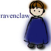 mayhap: sketchy boy in blue with text Ravenclaw (ravenclaw)