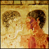 mayhap: Egyptian bas relief of two men together (hairdressers)
