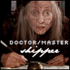 mayhap: bedraggled ink-stained woman with text Doctor/Master shipper (Doctor/Master)