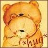 shorina: a Forever Friends teddybear hugs another from behind (Hug)