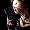 inkstone: a woman with a fan (dangerous lady)