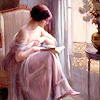 cafeshree: woman sitting on chair reading a book (Default)