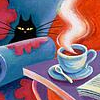 ladyofdragons: (coffee cat)