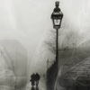 wrangletangle: a lamppost in black and white (lamppost) (Default)