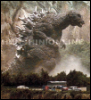 halialkers: Zombie Godzilla with big white spines, hunched over (The Zombie)