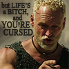 """muccamukk: Gunnar pointing and saying, """"but life's a bitch, and you're cursed."""" (Sinbad: Life's a Bitch)"""