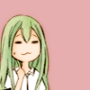 joyfulljunebug: Picture of a green haired girl smiling with her fist clenched in front of her chest. (Victorious)