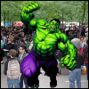 occupyfandom: The Hulk superimposed over an image of Occupy in Zuccotti Park (Hulk Occupy Wall Street)