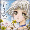 chomiji: Sue from CLAMP's Clover series, with the caption Growing (Sue - growing)