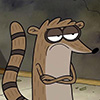 buzzy: Rigby from Regular Show with arms crossed looking unimpressed. (Rigby 2)