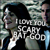 liviapenn: reese hovering behind kara (poi: i love you scary bat-god)