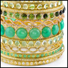 skywardprodigal: (bling-green bangles)
