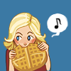 dogeared: Leslie Knope and a waffle as big as her head (sometimes you just need a giant waffle)
