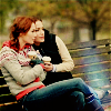 briar_pipe: Rachel and Luce on a bench (Rachel & Luce)