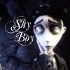 "forgotten_vows: picture of Victor looking shy with the text ""shy boy"" (Victor is the shiest)"