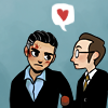 arduinna: chibi Finch and Reese from Person of Interest (POI - Finch <3 Reese)
