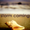 rhi: a shell waiting on the beach; storm coming (storm coming)