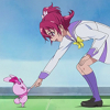 flamingstumpy: Mana leaning down to shake Charles' hand. (precure º unfazed by monsters and fairie)