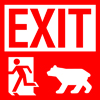 jazzfish: Exit, pursued by a bear (The Winter's Tale III iii)