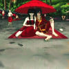 sparrowing: Zuko and Mai sitting under a sun-umbrella, ella, ella eh eh. (ella ella eh eh eh)