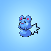 flamingstumpy: Gen V sprite of Azurill (pkmon º sad baby face)