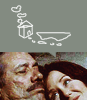 gamerchick: Top half: drawing of a cute cabin, white on grey.  Bottom half: Roslin and Adama cuddling sadly and adorably. (Roslin/Adama cabin)