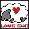 lanterne_rouee: dreamsheep with a red heart over text: love ewe (love ewe)