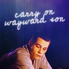 "strina: stiles caption ""carry on wayward son"" (stiles - wayward son)"