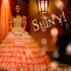 happydapy: Picture of Kalie from Firefly.  She has a crazy poofy dress on.  The text says SHINY (Shiny)