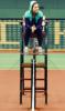 pondhop: Li Na sitting on umpire chair (Nike ad) (Li Na on chair)