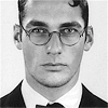outlineofash: Headshot of a solemn man wearing wire-rim spectacles. (Sundry - Glasses)