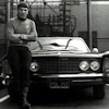 thothmes: Black and White photo - Spock on a Buick (Spock on a Buick)