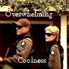 thothmes: Sam & Jack, guns at the ready, shades on.  Legend: Overwhelming Coolness (Overwhelming Coolness - Red Shift)