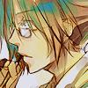 way2dawn: Gokudera with his hair up & glasses, thinking (Gokudera / hm that's interesting)