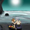 way2dawn: Riku and Sora, kissing on the Dark Beach (RikuSora / here at the end of all things)
