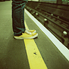 way2dawn: standing on the yellow line at the subway (Stock / over the line)