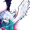 way2dawn: Ryou, half-shadow, half-light, holding a heart (Ryou / change of heart)