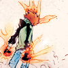 way2dawn: Tsuna with flames on his hands & forehead (Tsuna / flames)