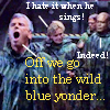 "thothmes: SG-1 in a corridor, Jack appears to be singing.  Loudly.  Sam says she hates it when he sings.  Teal'c ""Indeed!""s. (I Hate It When He Sings)"