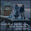 chianagirl: screencap from series of unfortunate events with children looking over falling floor edge (when the earth falls)