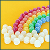 chianagirl: rainbow made of candy gumdrops on yellow background (gumdrop rainbow)