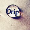 tree: the word 'drip' underneath and magnified by a drop of water ([else] big my secret)