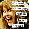 tree: claire hooper; text: she could see no good reason to act her age ([else] childfree)