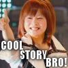 frozenrose: SUPER COOL! (NIIGAKI RISA :: thumbs up)