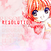 laceblade: Cardcaptor Sakura, smiling at viewer, surrounded by pink. Text: RESOLUTION (CCS: Resolution)