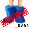 blueyeti: Yeti's blue feet, stamped KIDNAPPED, saying '...rar?' (Yeti - Kidnapped)