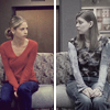 labellementeuse: buffy and tara sitting next to each other on a couch. a bit awkward. (joss buffy and tara)