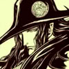 erin_c_1978_fic: B&W drawing of Vampire Hunter D by Yutaka Minowa. D is glowering, or looking how he normally does. (D)